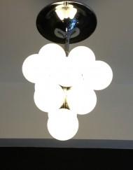 Lampadario sfere vetro