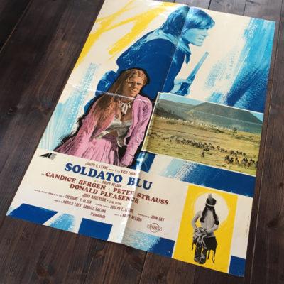 manifesto Soldato blu 1970 soggettone