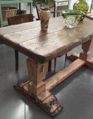 tavolo vintage in olmo Bobeche Ancona