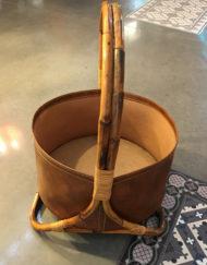 portariviste in bambu portaoggetti anni '70