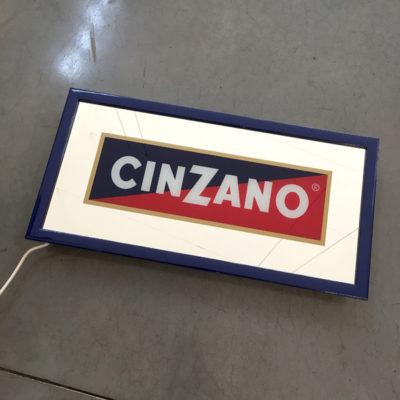 insegna Cinzano luminosa Bobeche vintage store