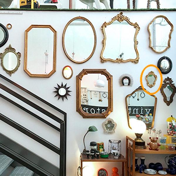 specchio dorato sagomato