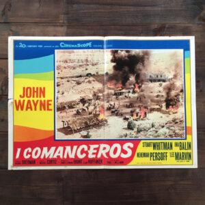 Fotobusta I comanceros 1961 con John Wayne