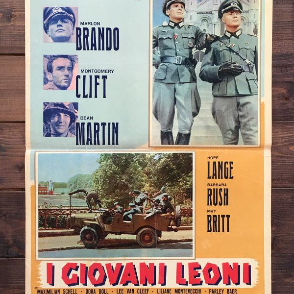 fotobusta I giovani leoni Marlon Brando, Montgomery Clift e Dean Martin, 1958