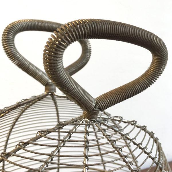 cestino in filo di ferro Bobeche vintage
