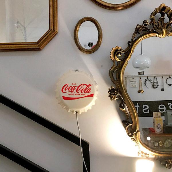 insegna Coca Cola tappo Bobeche vintage store