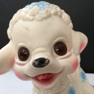pecorella Ledraplastic anni '60 squeeze toy