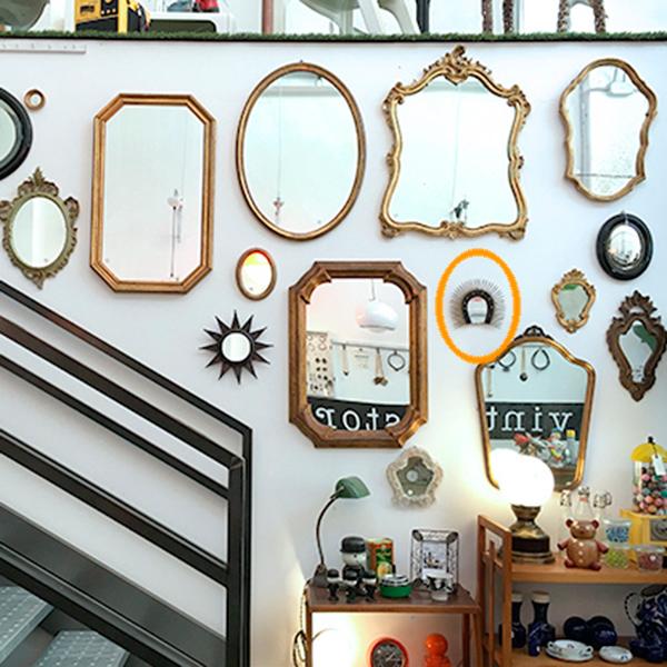 Specchio in metallo vintage ferro di cavallo modernariato bobeche vintage store - Specchio in francese ...