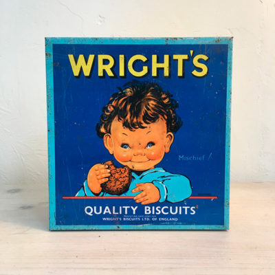 wright's biscuits box Bobeche