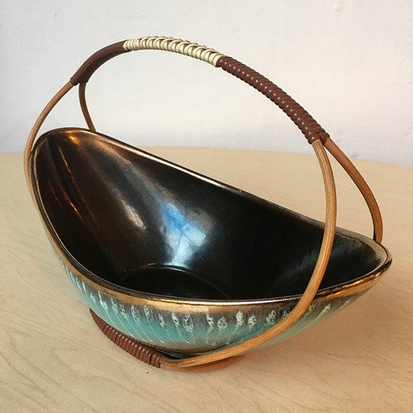 Cestino in ceramica west germany Bobeche