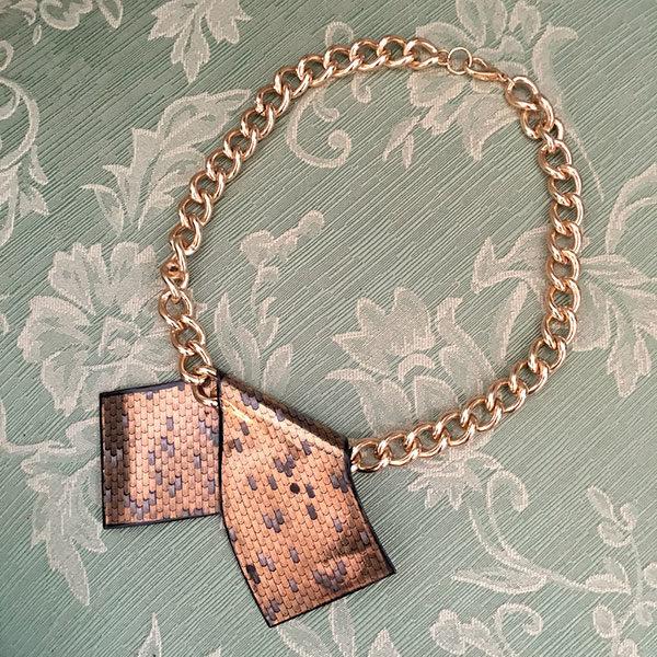 collana Laurana vintage smaltata Bobeche modernariato