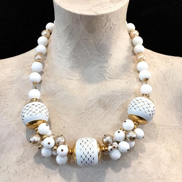 collana Marlene bianca vintage necklace