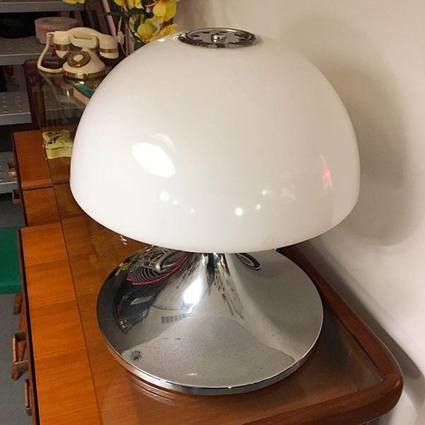 lampada space age a fungo vintage Bobeche