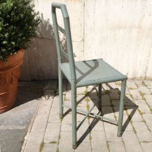 sedia industriale in metallo vintage Bobeche