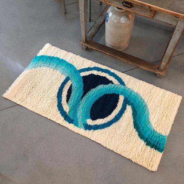 tappeto vintage rettangolare anni '70