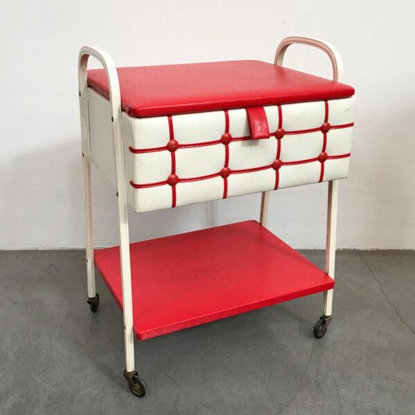 carrello porta cucito anni '60