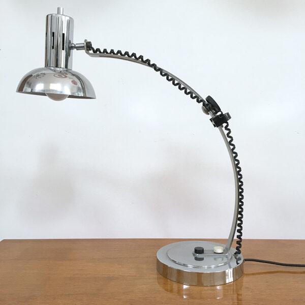 lampada da scrivania cromata vintage anni '60