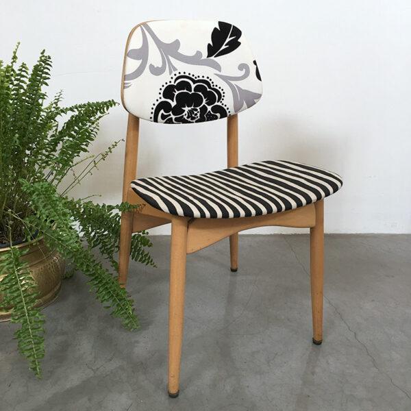 sedia svedese vintage binaco e nero