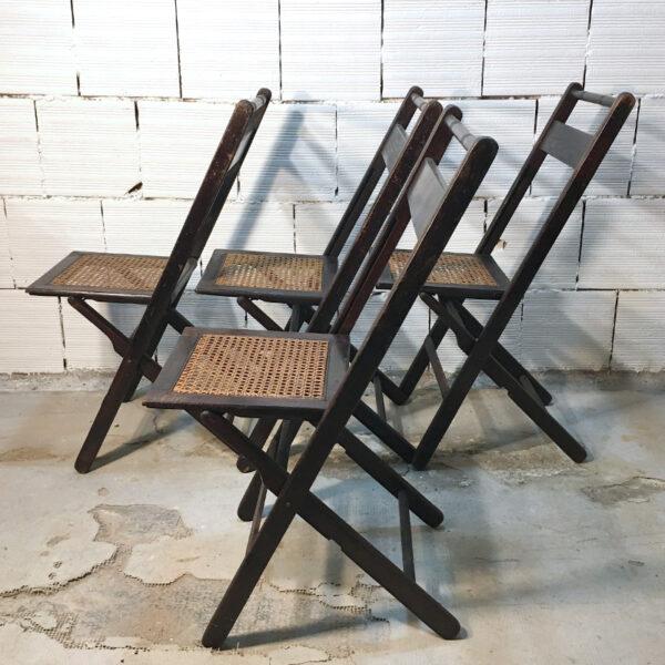 sedia pieghevole anni '50