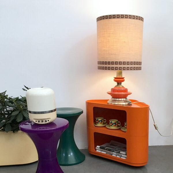 lampada da tavolo anni '70 arancione