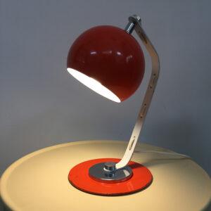 lampada arancione vintage