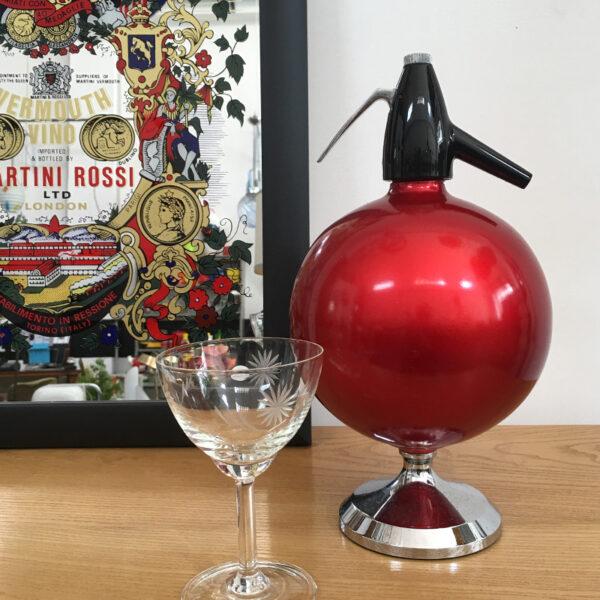 seltzer vintage rosso palla modernariato