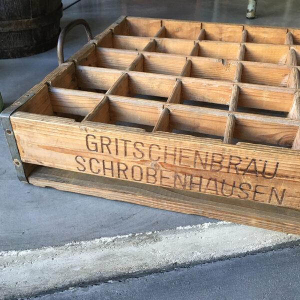 cassetta portabottiglie vintage in legno