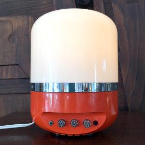 radio lampada Europhon arancione vintage Bobeche