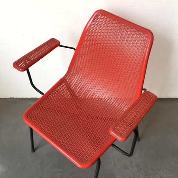 sedia vintage rossa