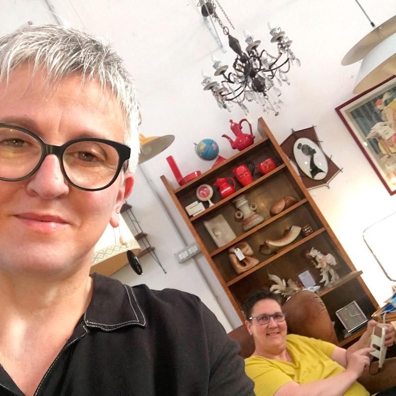 Graziella Dariozzi e Silvia Mondaini Bobeche vintage store