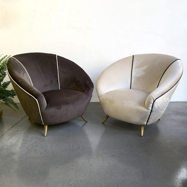 coppia poltrone anni '50 vintage