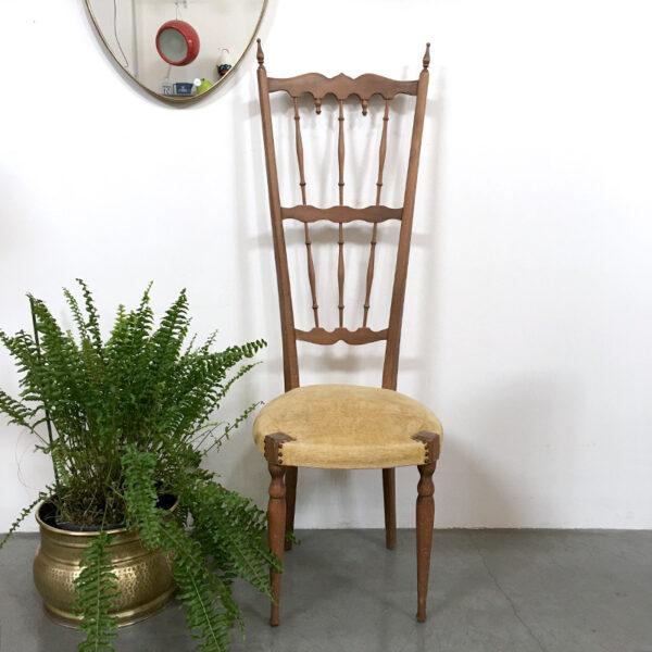 sedia schienale alto vintage