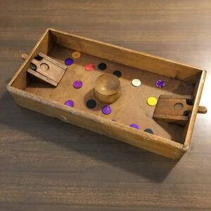 gioco delle pulci in legno vintage