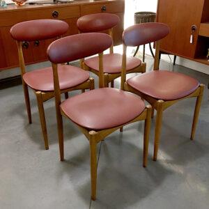 sedie svedesi in teak vintage