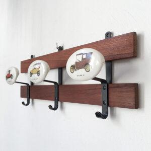 appendiabiti parete teak vintage