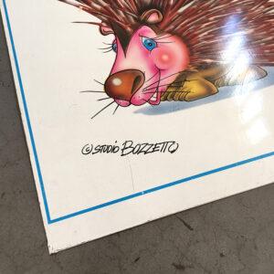 targa in metallo farmacia Studio Bozzetto vintage