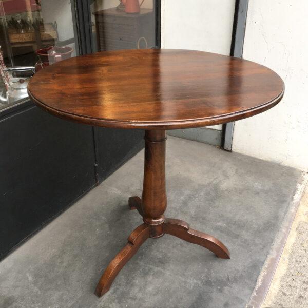 tavolo tondo vintage noce