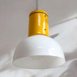 lampadario vintage plastica giallo italian vintage design