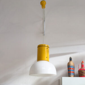 lampadario vintage plastica giallo