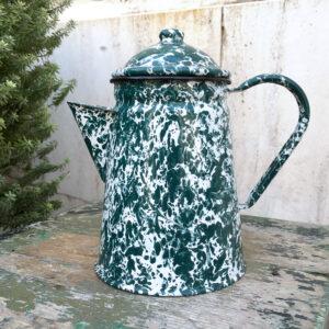 caffettiera maculata latta smaltata vintage