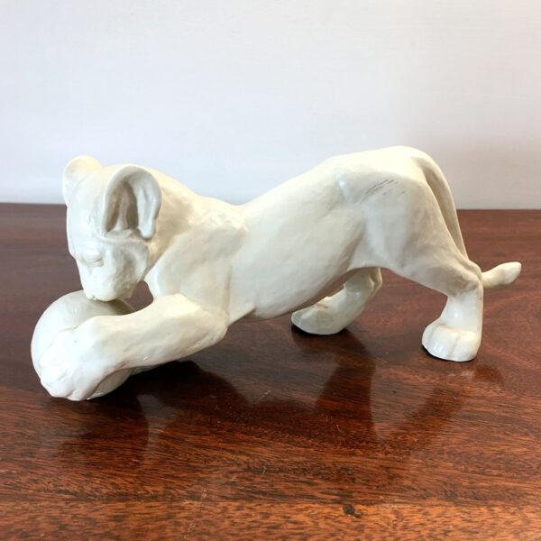 scultura Rosenthal tigre leone