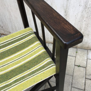 sedia da regista vintage pieghevole