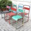 sedie da bistrot in ferro vintage industriale