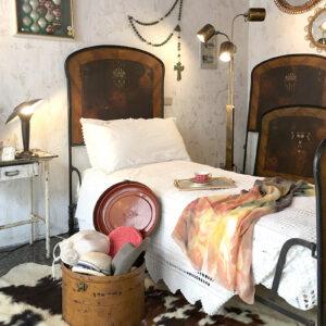 letto in ferro battuto 1 piazza vintage inizi '900