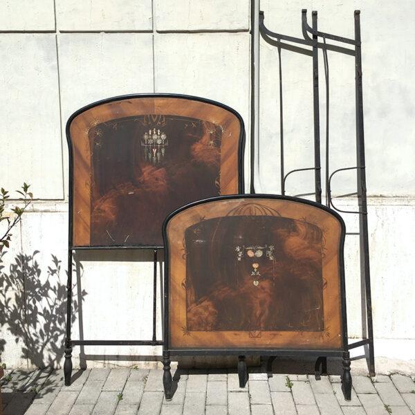letto in ferro battuto singolo vintage inizi '900