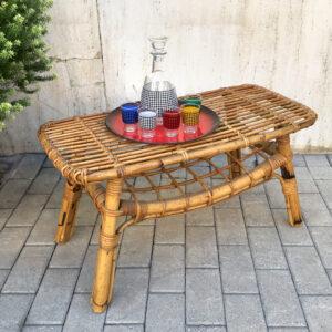 tavolino in bambù anni '60 vintage