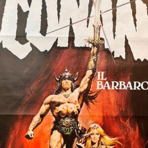 manifesto vintage film Conan il barbaro