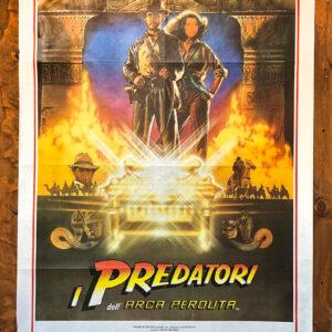manifesto vintage film i predatori dell'arca perduta